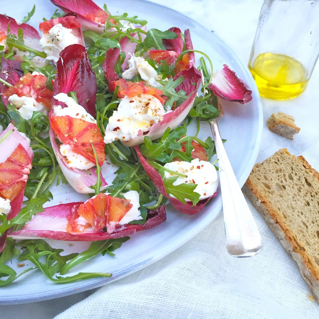 Roodlofsalade recept met mozzarella & bloedsinaasappel made by ellen