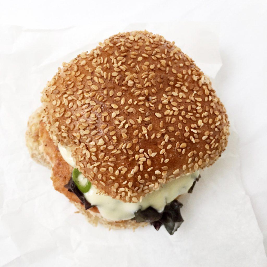 Zalmburger met zeewier & wasabi mayonaise recept made by ellen