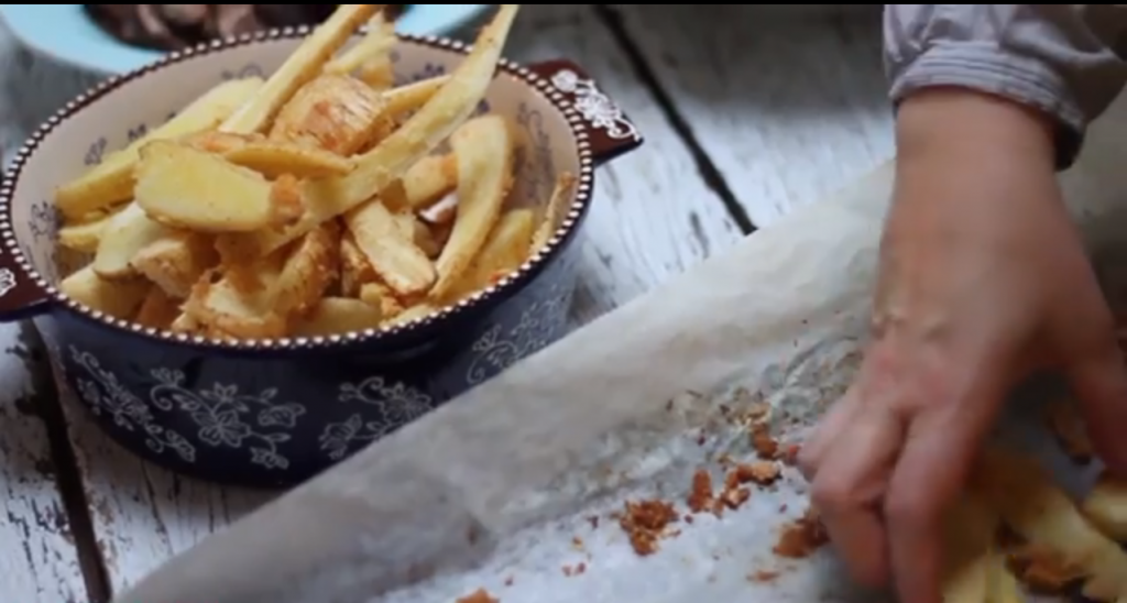 VIDEO recept pastinaak frieten uit de oven made by ellen