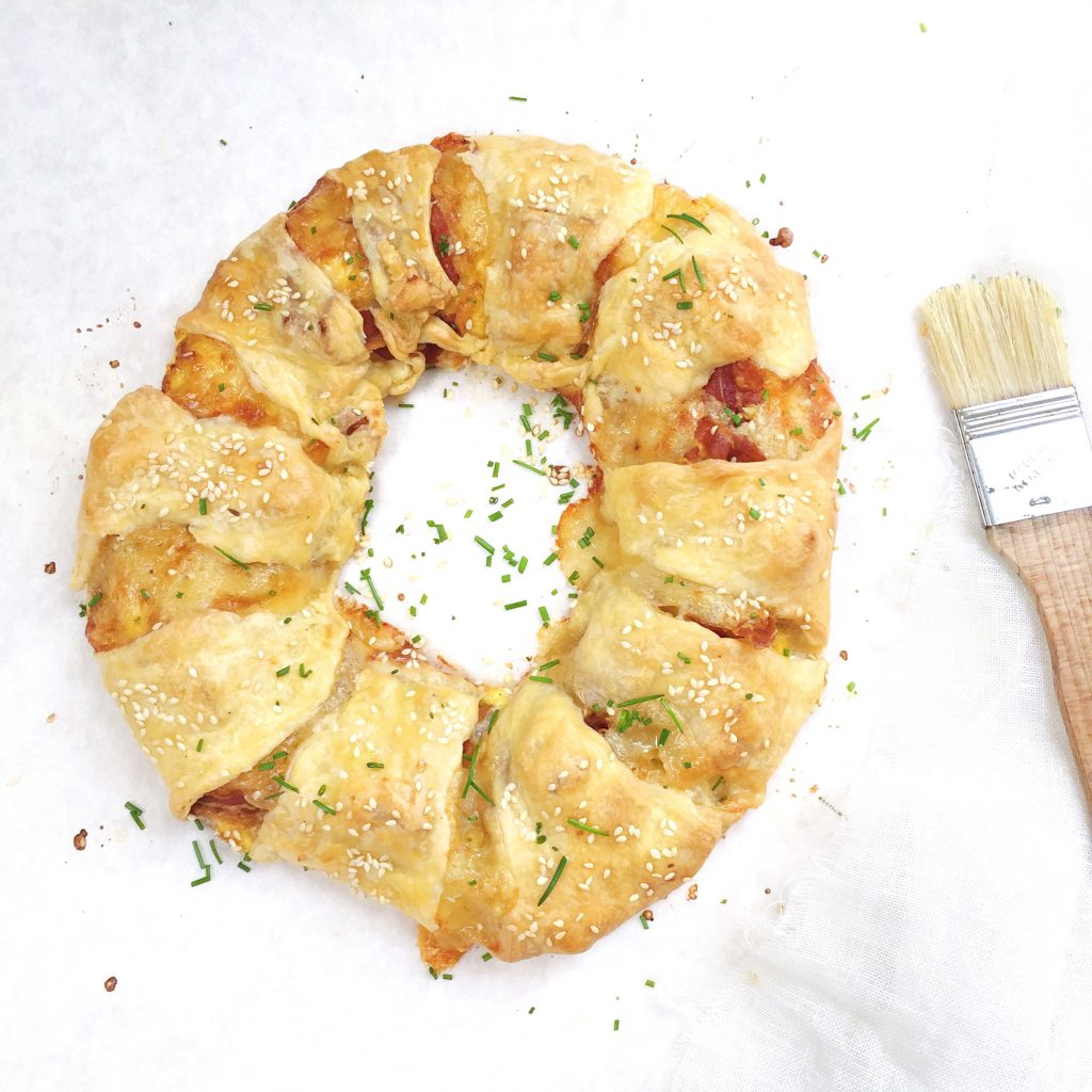 Broodkrans met eieren, spek & kaas made by ellen