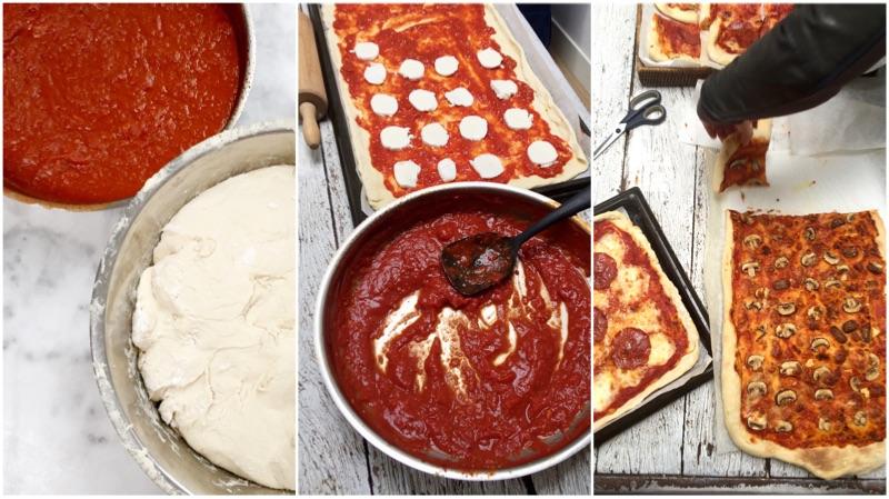 Plaatpizza maken basisrecept made by ellen