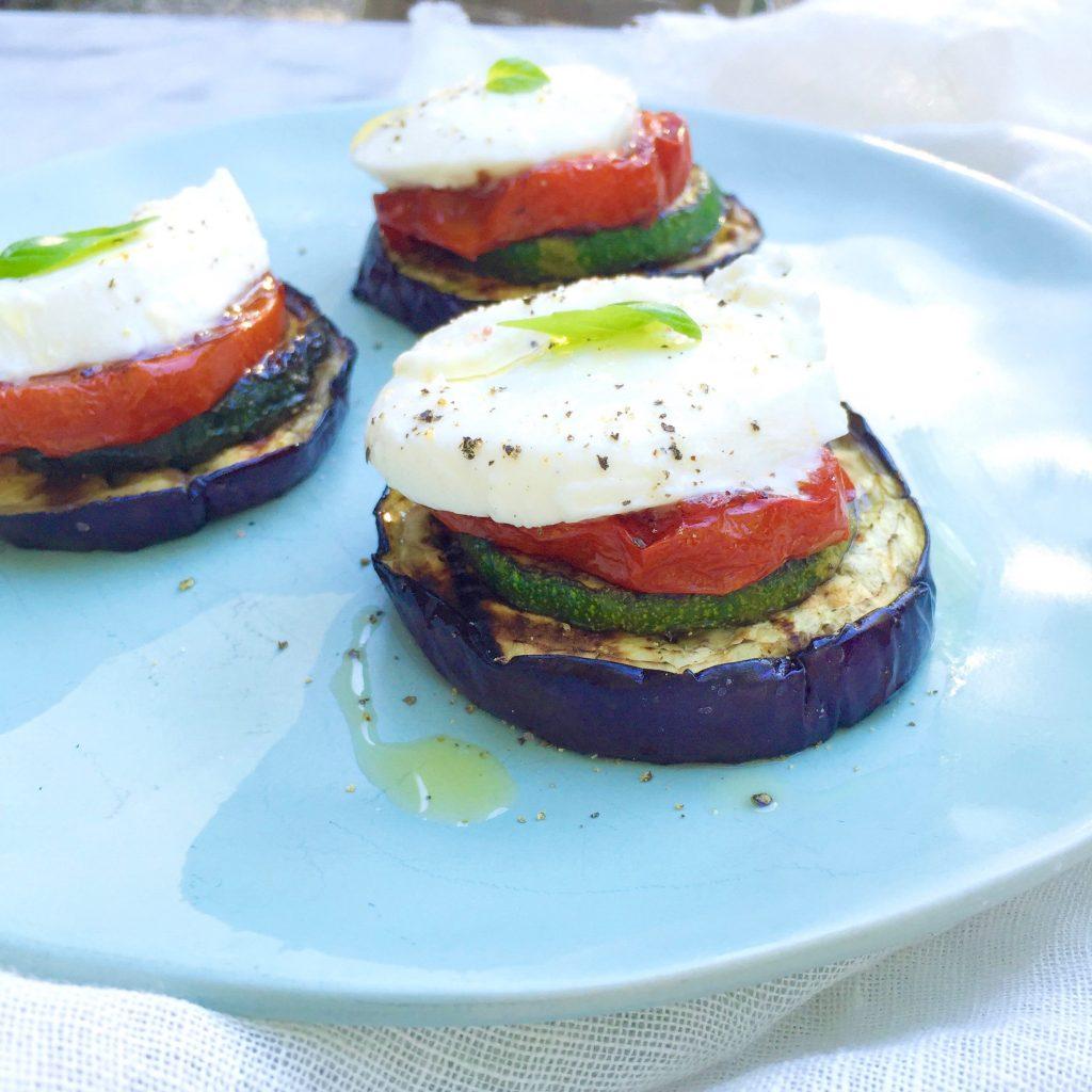 BBQ gegrilde groenten met mozzarella made by ellen