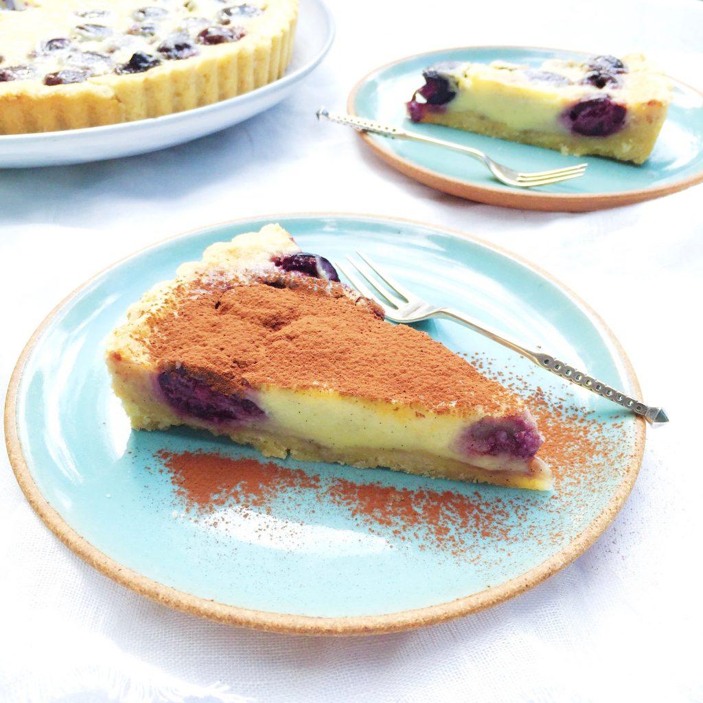 Kersentaart maken met cheesecake vulling made by ellen