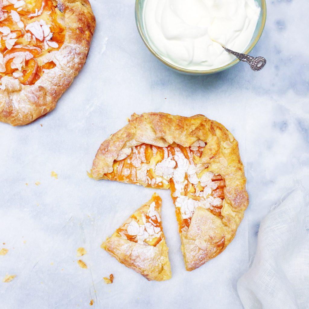 Abrikozen galette recept: snelle abrikozentaart maken made by ellen