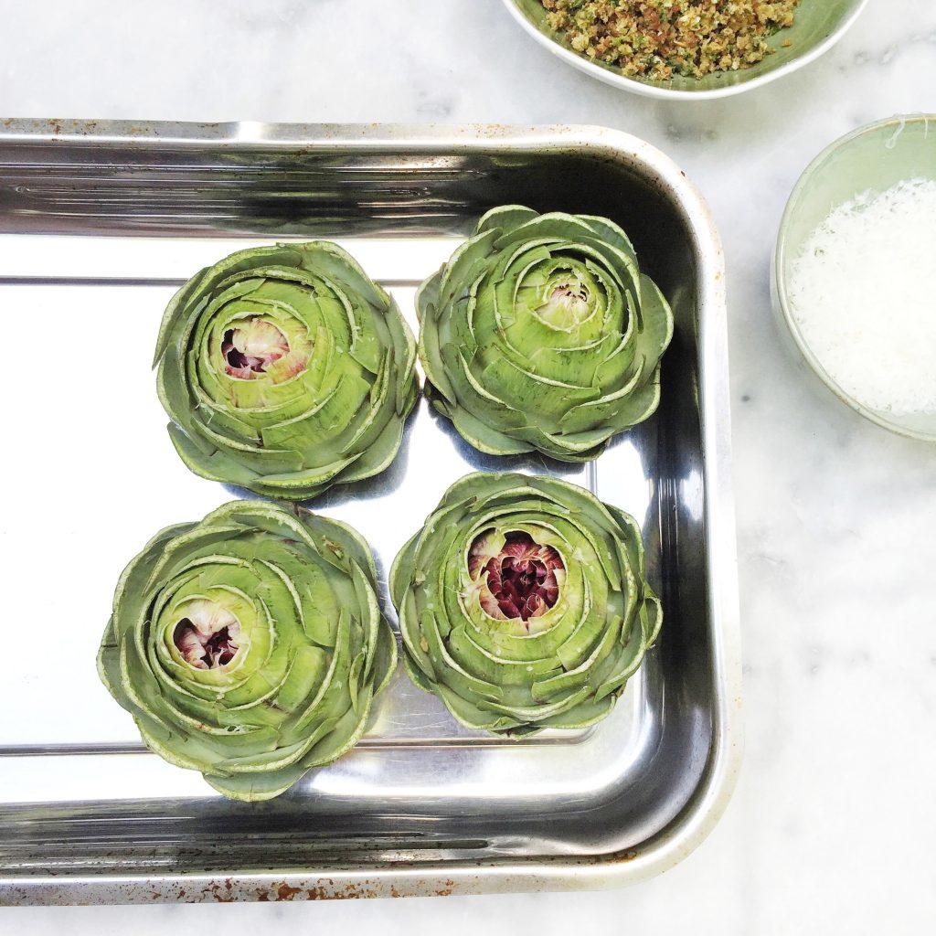 Recept gevulde artisjokken uit de oven made by ellen