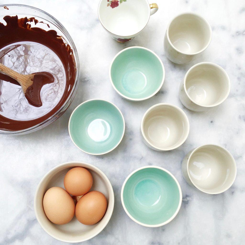 Chocolademousse met frambozen made by ellen