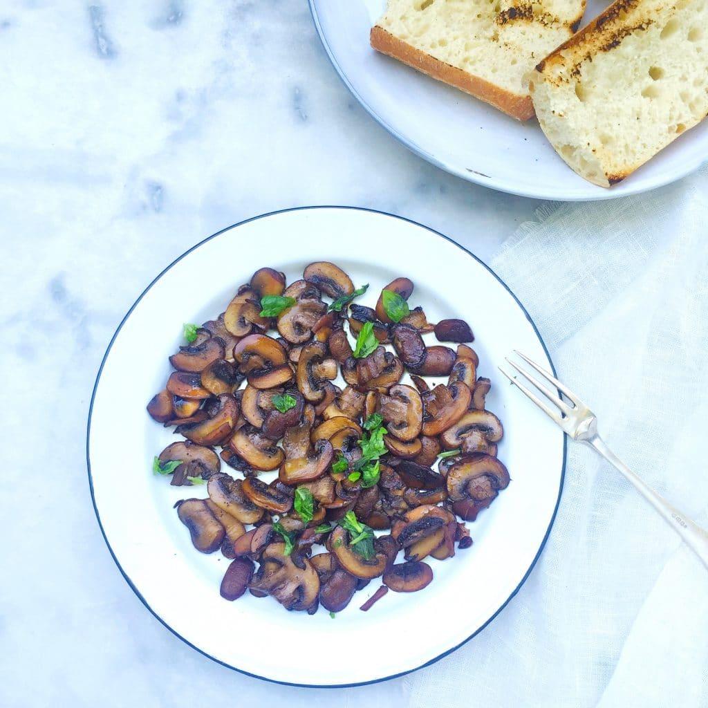 Champignons bakken - gezond recept, zonder boter made by elen