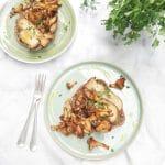 Recept cantharellen bakken & schoonmaken made by ellen