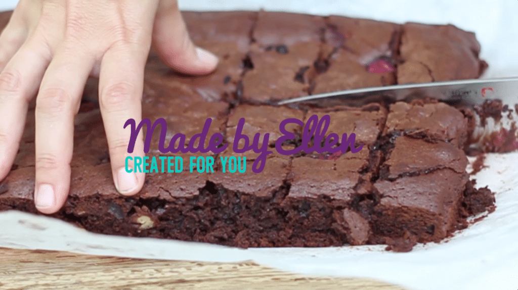 Video recept chocolade brownie maken made by ellen