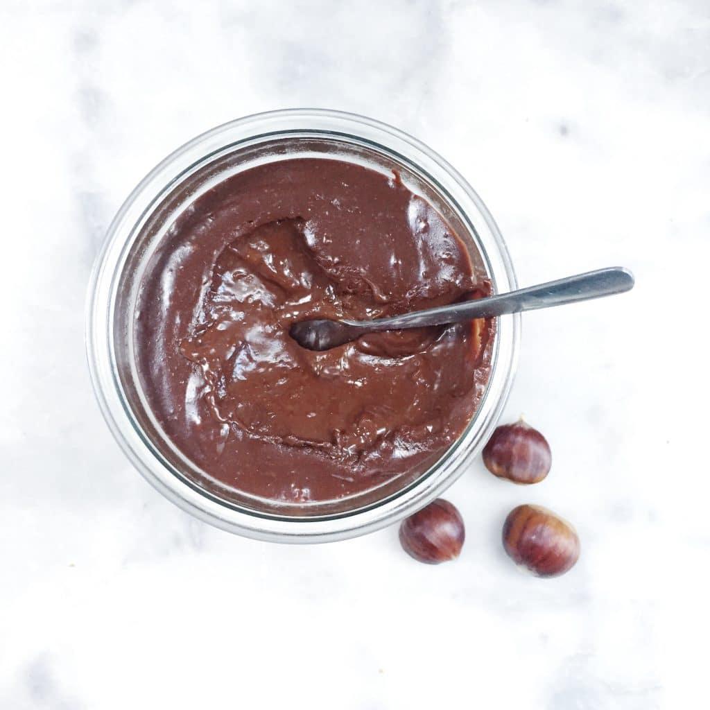 Chocoladepasta maken met kastanjes - zonder suiker made by ellen