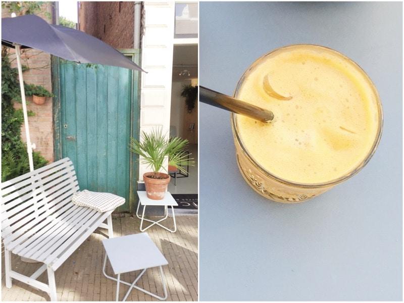 Mica koffiebar in Haarlem: koffie drinken made by ellen