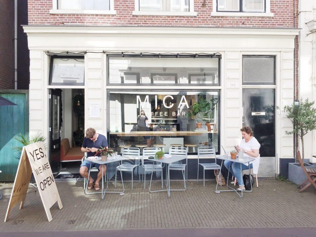Mica koffiebar Haarlem - koffie drinken made by ellen