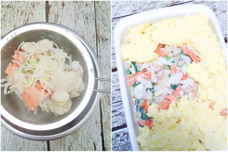 Vispastei maken met aardappelpuree - oven recept made by ellen