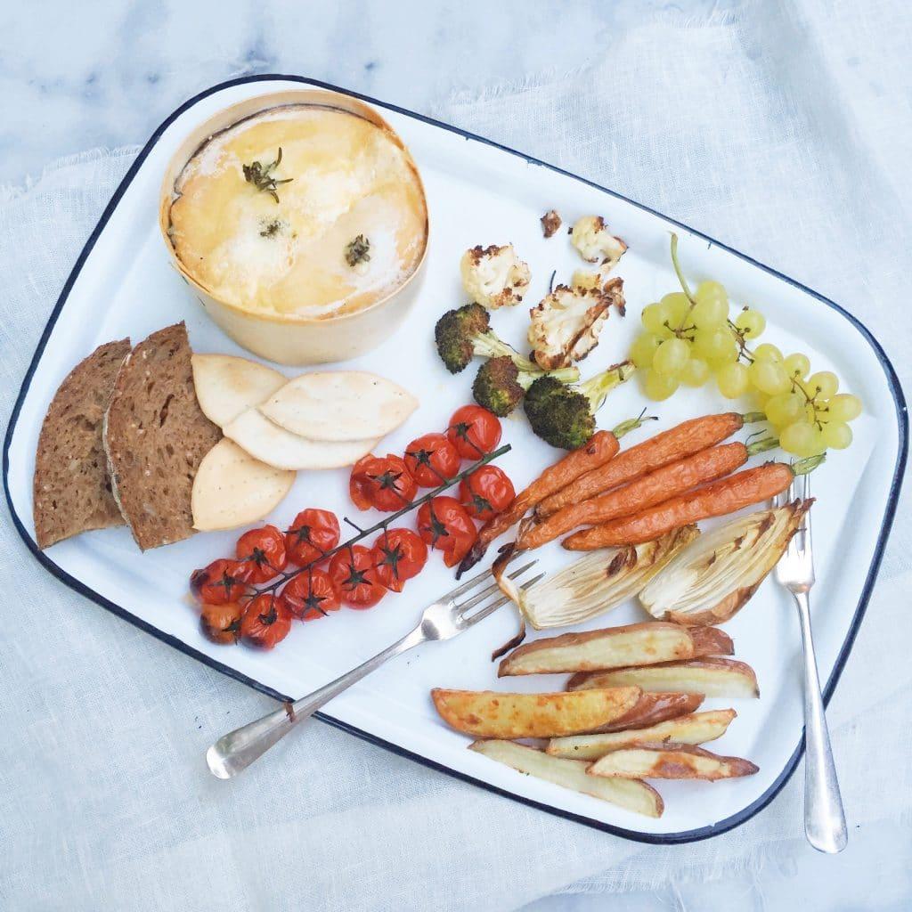 Kaasfondue mont d'or met lekkere groente bijgerechten made by ellen