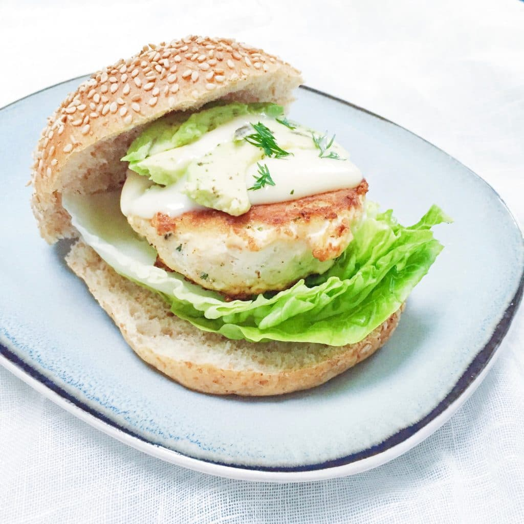 Recept visburger maken met avocado & dille mayonaise made by ellen