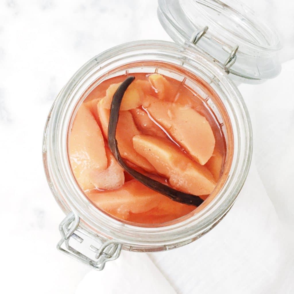 Recept kweepeer pocheren met vanille & citroen made by ellen