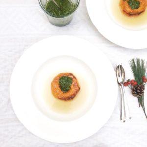 Geroosterde pompoen met boerenkool pesto uit de oven made by ellen