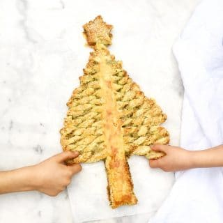 Kerstboom bladerdeeg pesto maken met smeuïge kaas, made by ellen