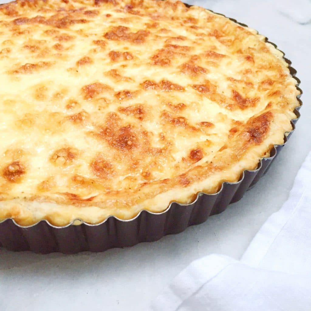 Quiche Lorraine recept met spekjes, room & gruyère kaas, made by ellen