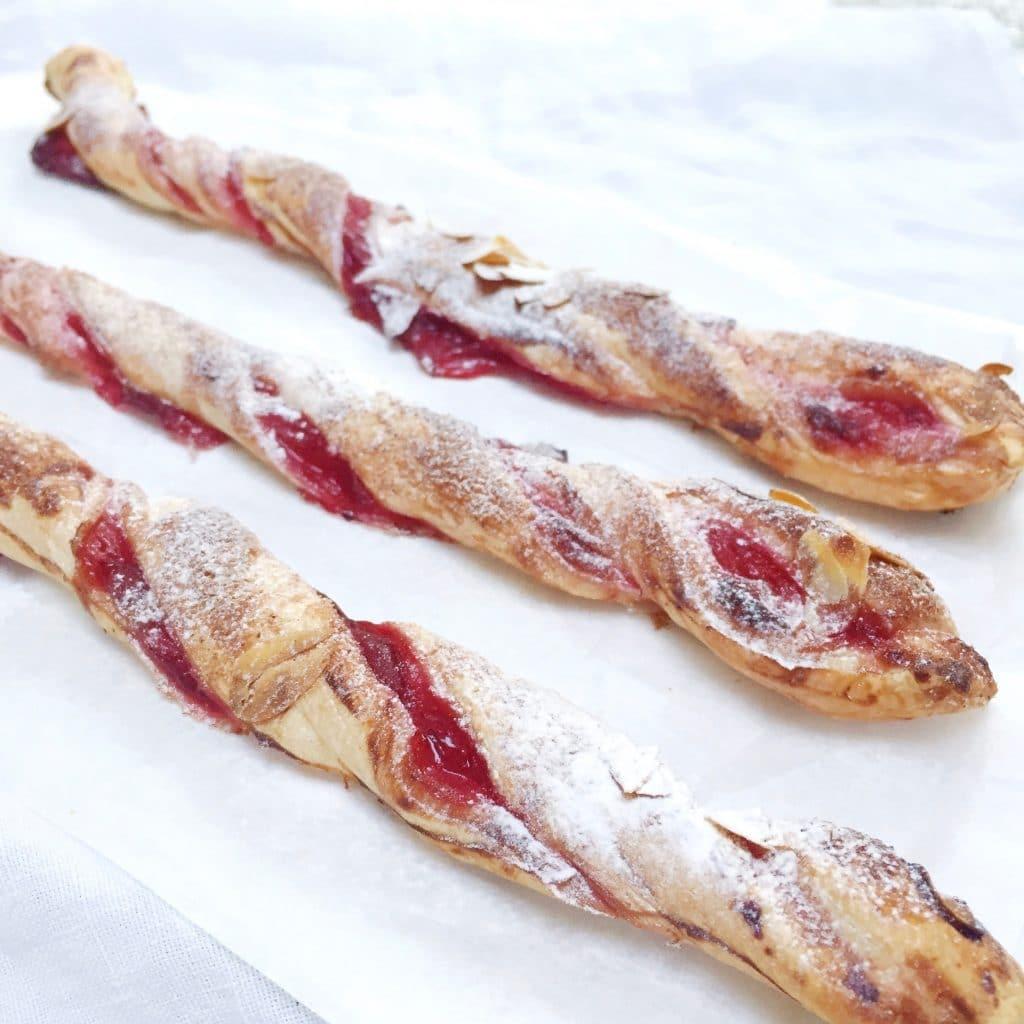 Restjes recept: cranberry bladerdeegstengels (zoet) made by ellen