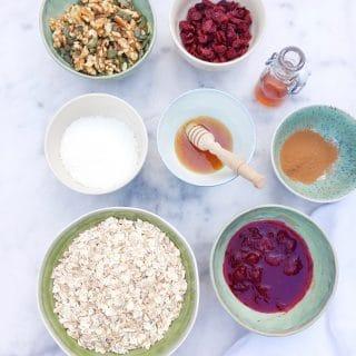 Recept Brinta oergranen granola met cranberries & noten made by ellen