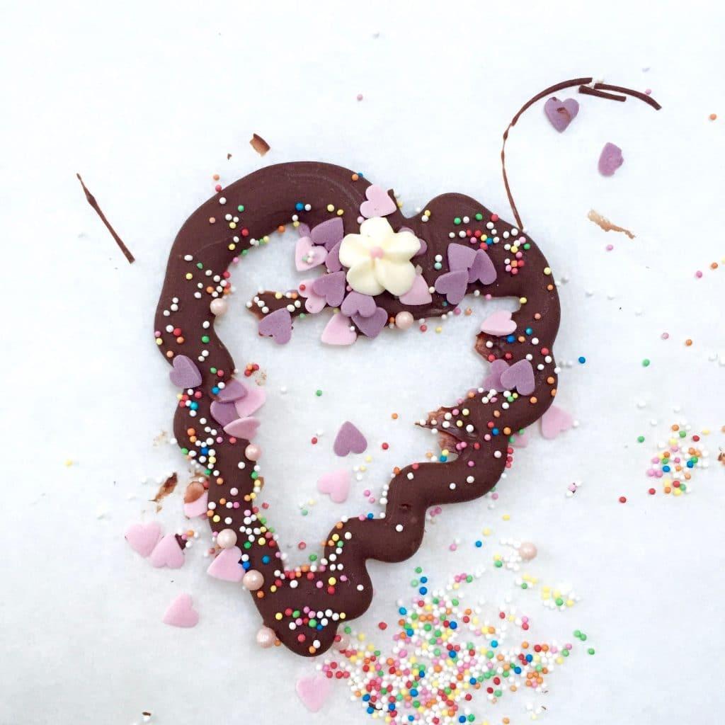 Chocolade hartjes made by ellen