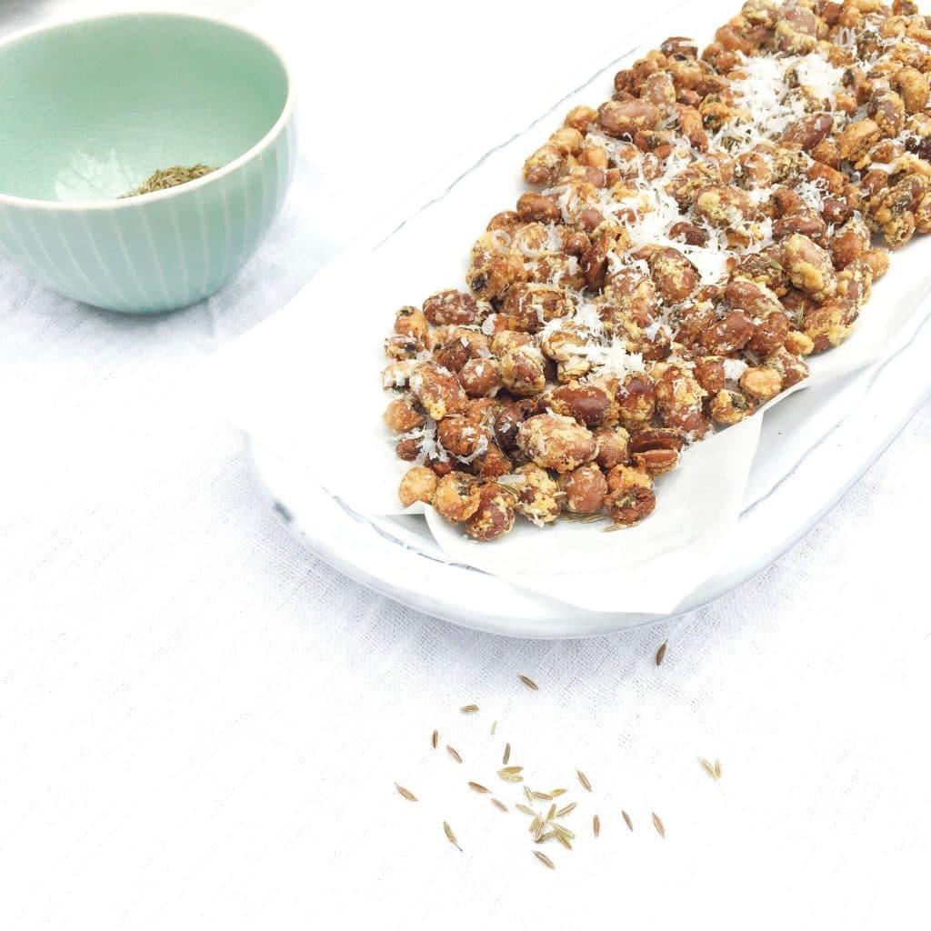 Geroosterde bonen snack uit de oven - made by ellen