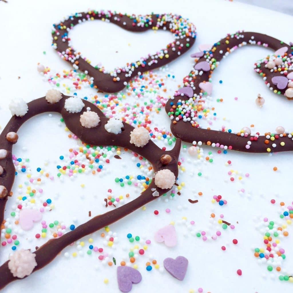 chocolade hartjes, made by ellen