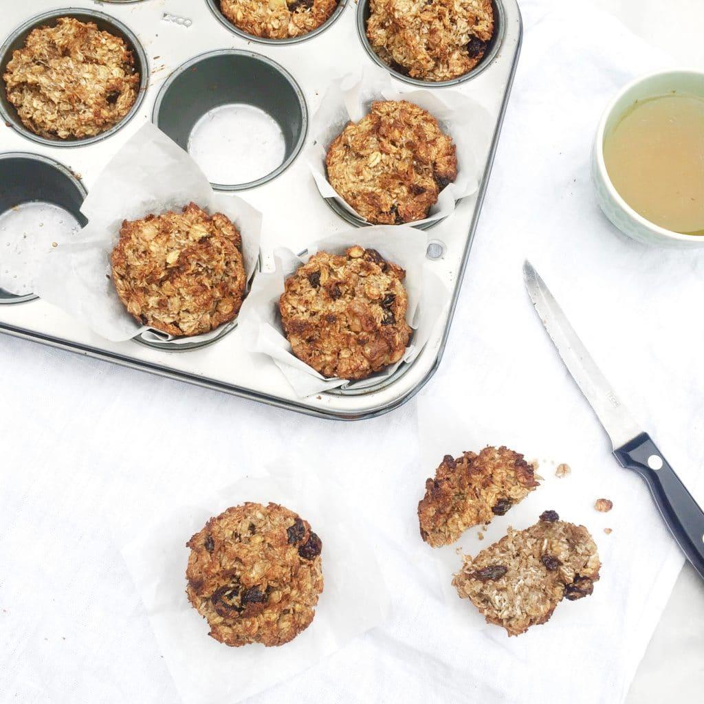 banaan, bananen, muffin, recept, gezond, bakken, oven, banaan muffin, kinderen, ontbijt, snack, made by ellen, brinta, oergranen, made by ellen