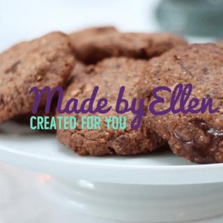 chocolade koekjes maken met noten - video recept made by ellen