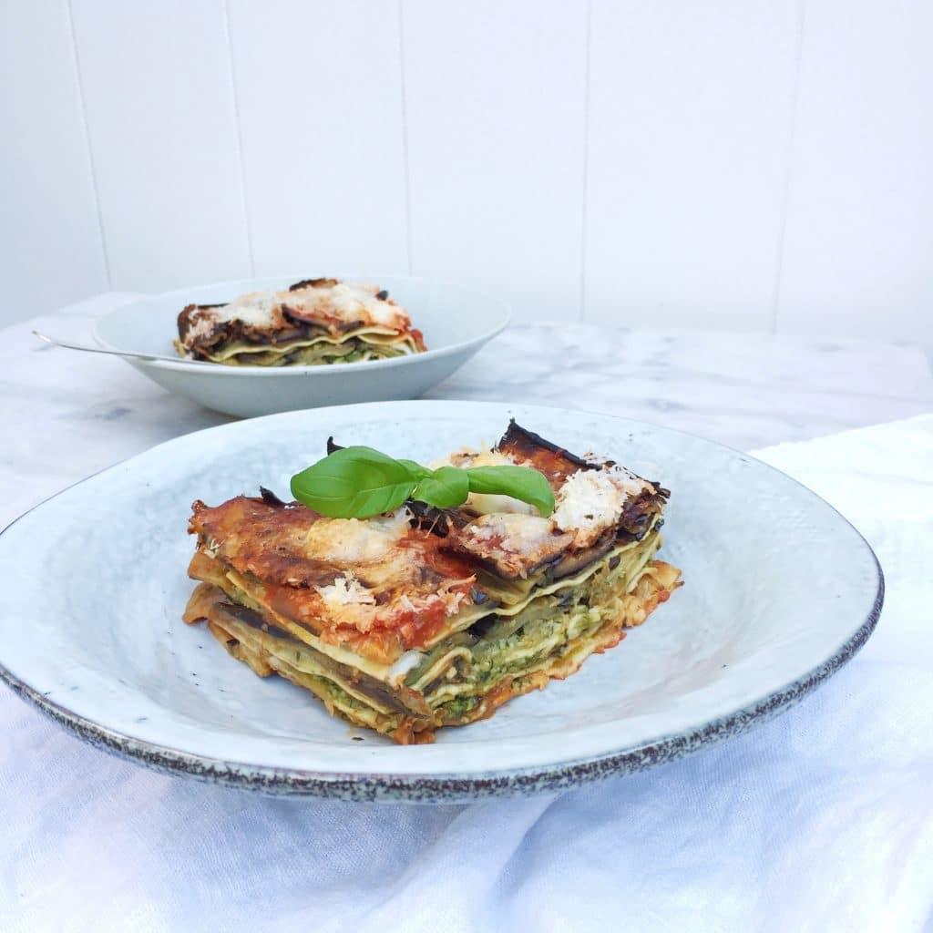 Groentelasagne met pesto, tomatensaus & mozzarella made by ellen