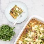 Recept frittata uit de oven - met chorizo, doperwten & feta - made by ellen