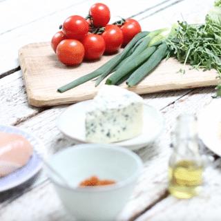 Wrap met gekruide kip & blauwe kaas mayonaise (incl. video) made by ellen