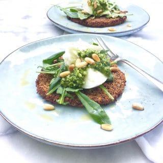 Bloemkoolpizza recept met pesto & mozzarella - made by ellen