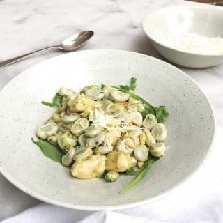 Recept voor gnocchi met pesto, kaas & tuinbonen made by ellen made by ellen