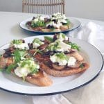 Bruschetta maken met champignons & mozzarella