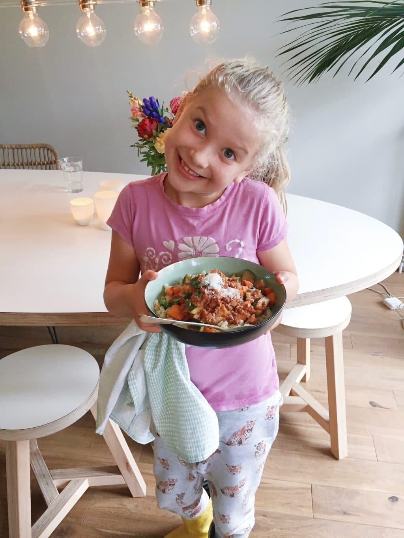 Macaroni met gehakt, groenten & kaas made by ellen