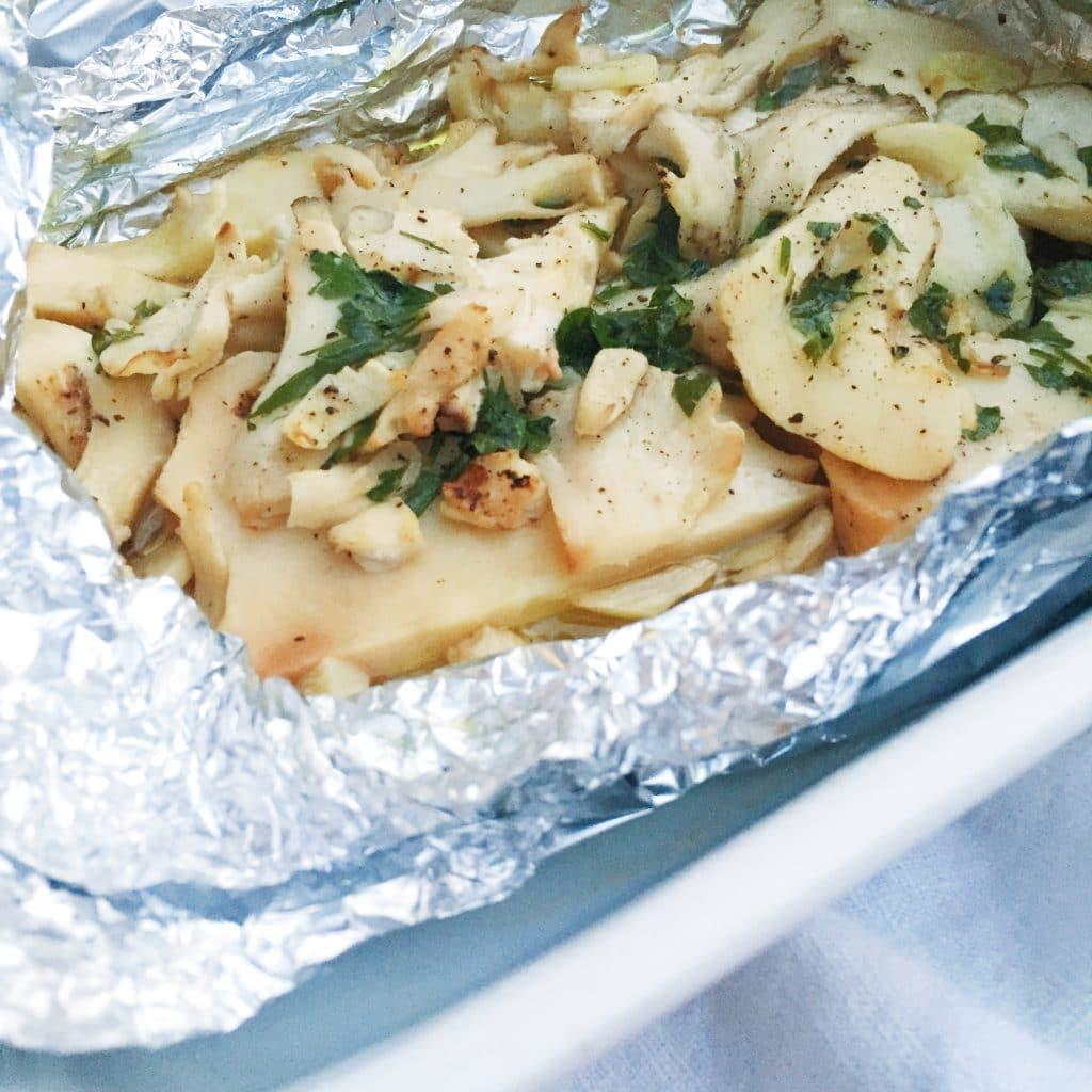 Eikhaas eten - met knoflook & olijfolie uit de oven made by ellen