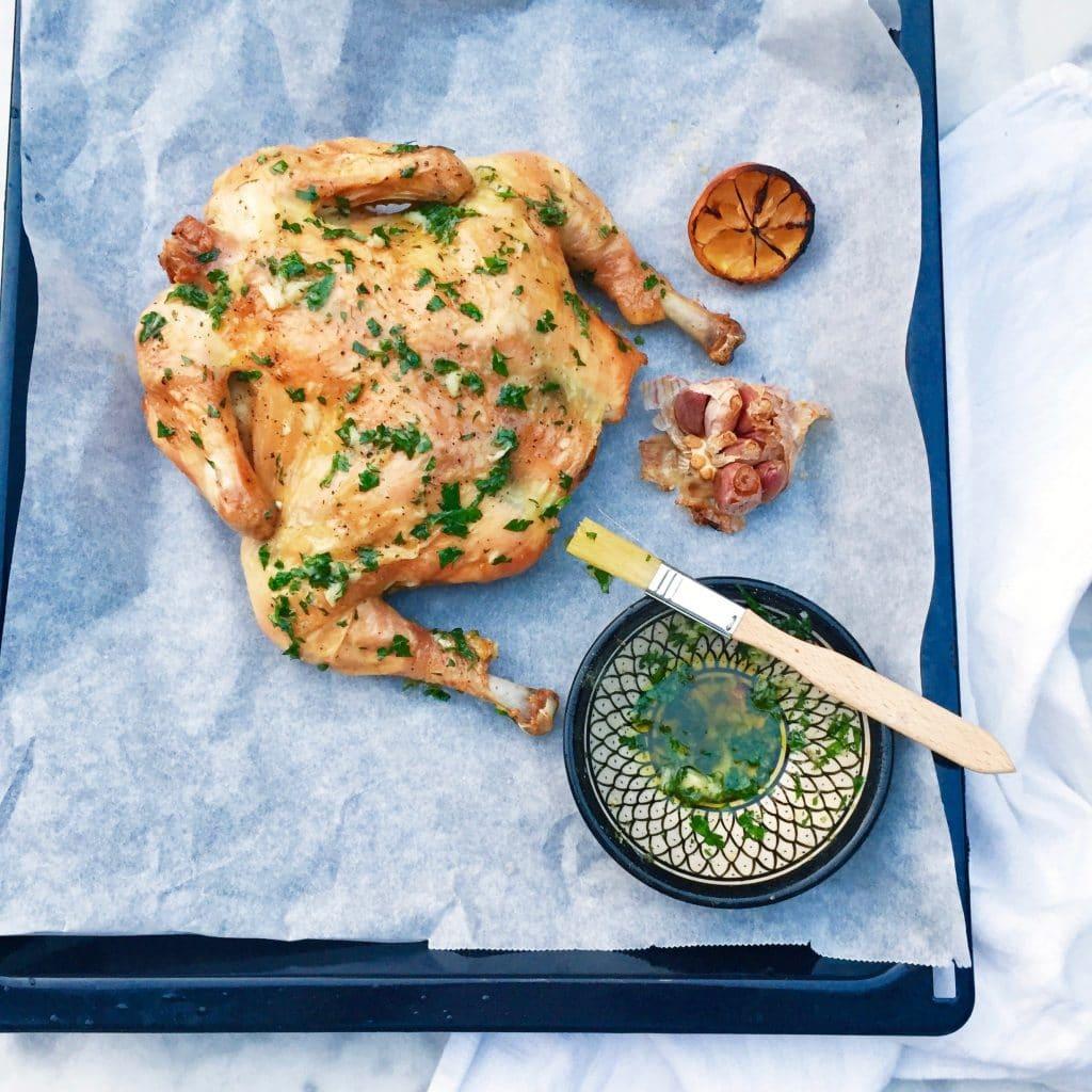 Gevlinderde kip met knoflook & citroen uit de oven made by ellen
