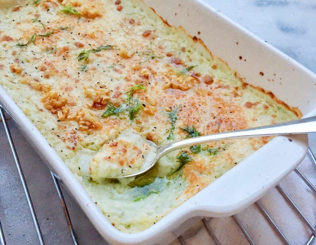 Venkelpuree zonder aardappel - gegratineerd in de oven