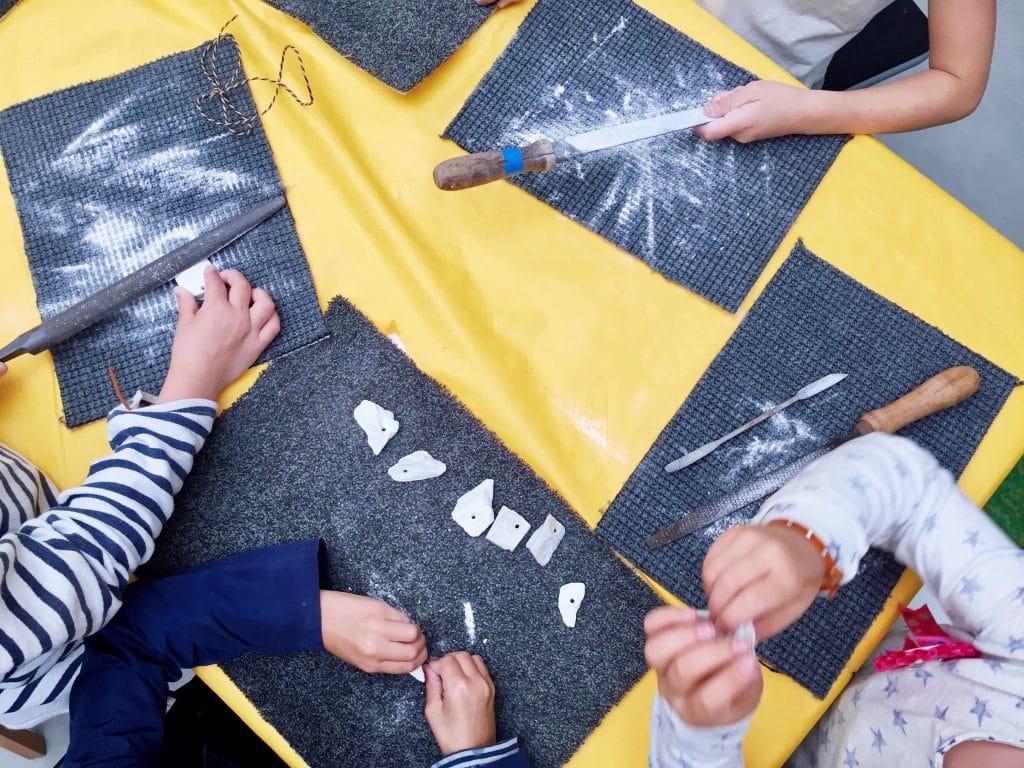 Kinderfeestje bij creatieve educatie Uiten in 't Gooi