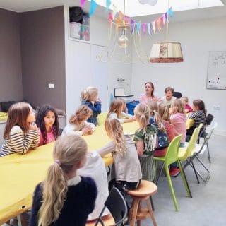 Kinderfeestje bij creatieve educatie Uiten in 't Gooi made by ellen