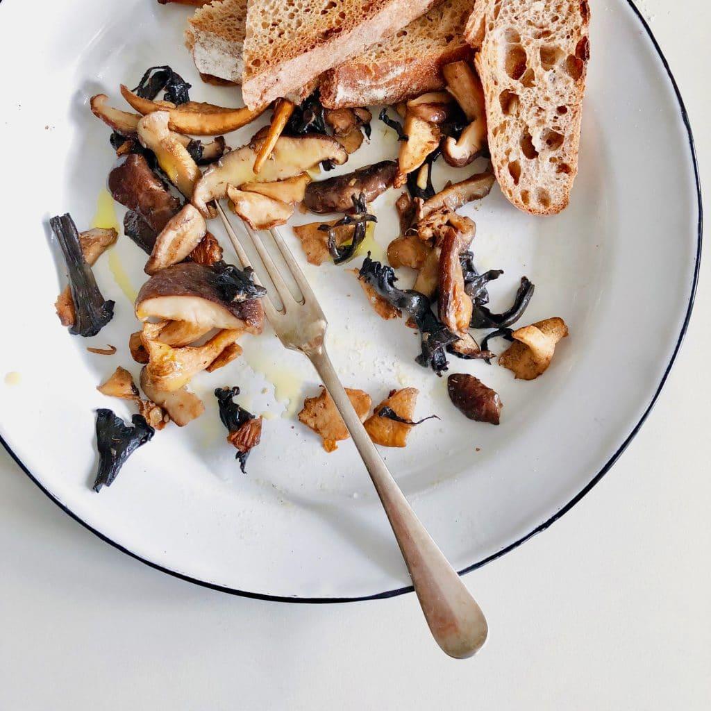 Recept wilde paddenstoelen bakken