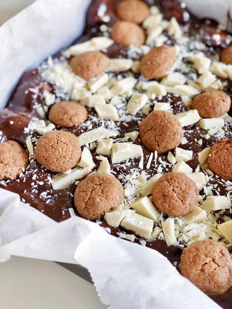 pepernoten brownie taart voor sinterklaas made by ellen recept