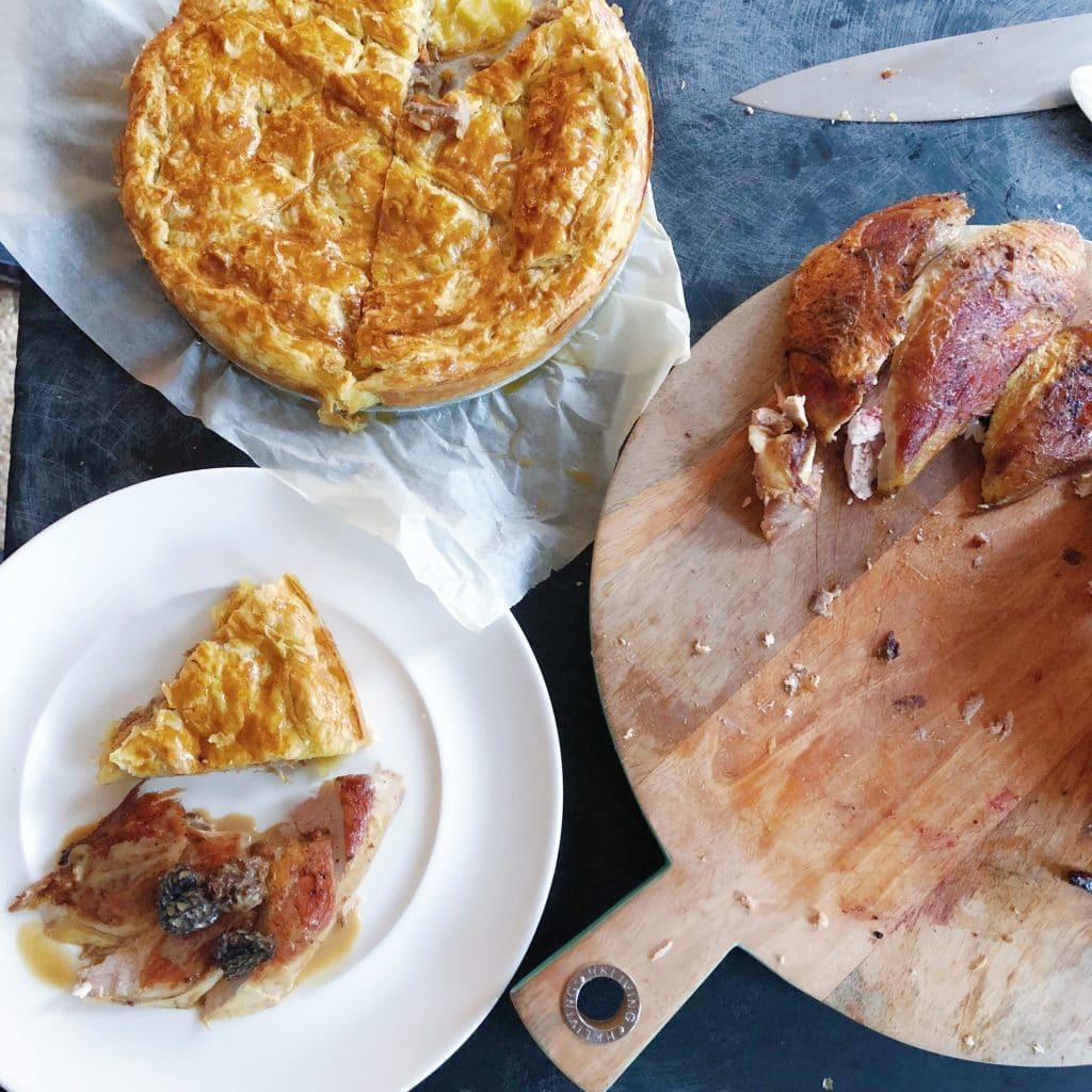 Fazantenborst met morillesaus en fpie fazant made by ellen