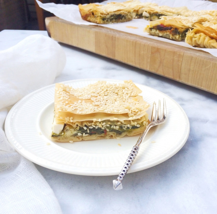 Recept spanakopita met filodeeg & feta kaas made by ellen