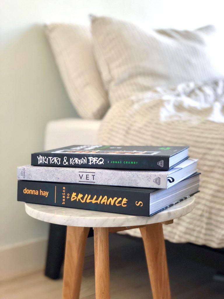 Kookboeken op mijn nachtkastje