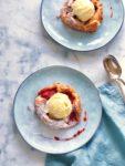 Aardbeien vanille galette met ijs