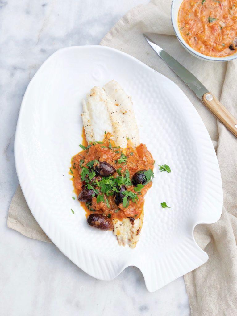 Griet vis met saffraansaus
