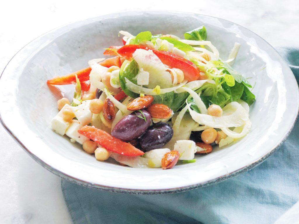 Salade zonder tomaat en komkommer